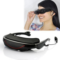 Wholesale Portable Eyewear Inch HD Widescreen Multimedia Player VG320 D stereo Video Glasses Virtual Theatre GB interface efit gift