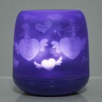 Wholesale LED electronic flameless light Cartoon projection Candle Purple