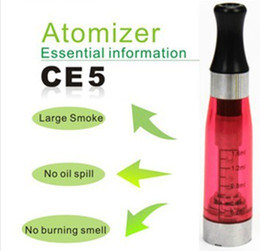 Electronic Cigarette CE5 Atomizer E Cigarette Atomizers E Cig Clearomizers For Ego-t Ego-c Ego Battery Electronic Cigarettes Atomizers DHL