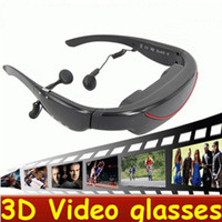 Wholesale Eyewear Inch HD Widescreen Multimedia Player Virtual Screen stereo D Video Glasses Virtual Theatre Cinema Mobile Theatre Music Play