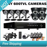Wholesale 8CH H Surveillance DVR SONY TVL Outdoor Security Camera SONY TVL Indoor Camera