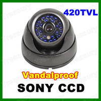 Wholesale 1 quot SONY Super HAD CCD TVL IR Blue LED mm Lens Vandalproof CCTV Security Outdoor Dome Camera