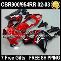 7gifts For HONDA CBR900RR CBR954RR 02 03 Red black CBR 954RR...
