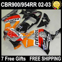 7gifts For HONDA CBR900RR Repsol Orange CBR954RR 02 03 CBR 9...