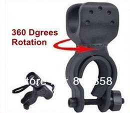 Free Shipping 1pc Cycling Grip Mount Bike Clamp Clip Bicycle Flashlight LED Torch Light Holder Plastic Holder
