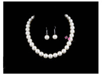 Wholesale Elegant Pearl Necklace and Earrings Jewelry set Nice Wedding Jewelry Pearl Jewelry set