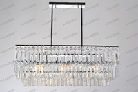 Chandelier Transparent Hotel LLFA1966 free shipping best selling square crystal ceiling chandelier lights with 65*19*62cm diamater
