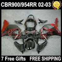 7gifts Red flames black For HONDA CBR900RR CBR954RR 02 03 CB...