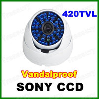 Wholesale TVL SONY COLOR CCD Led CCTV Vandal White Dome Camera Wide Angle Night Vision Outdoor Waterproof