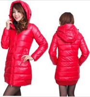 Wholesale Hot Sae New Koran Wnter Fashion Slim thick cotton padded clothes coat pu long Cotton padded keep warm coat