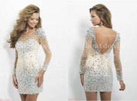 Gorgeous Homecoming Dresses Sexy Jewel Crystal Beads Backles...