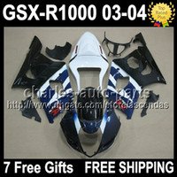 7gifts+ Seat Cowl For SUZUKI K3 03 04 GSXR1000 Factory blue G...