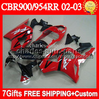 7gifts For HONDA CBR954RR Gloss red CBR900RR 02 03 Q6734 Fre...