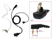 Wholesale 10x PIN Noise Reduction Covert Acoustic Tube Earpiece for Radio WOUXUN HYT TYT BAOFENG UV R Black C0049A