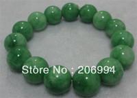 Unisex nature green jade bracelet - new arrive handmade mm nature beautiful green jade jadeite bracelet pc fashion jewelry