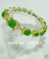 Wholesale new arrive marvelous natural green jade bracelets gift fashion jewelry