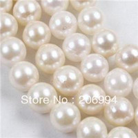 Wholesale mm White Freshwater Pearl Round Loose Beads15 quot fashion jewelry