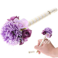 Wholesale 100pcs Flower Style Wedding Guest Signature Pen Sign in Pen Marker Pen Stationery Color Assorted