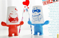 Wholesale Cute Novel Cartoon Toothbrush Holder Stand With Wash Cup Set Household Brush Set
