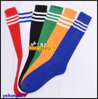 Stockings elite socks - Retail Men and Women Football Socks Black White Strips Elite Long Socks Soccer Sock Sox Sport Hose Stockings HOT Selling