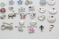 Wholesale 260 new assorted floating charm for glass memory living locket promotion gift Xmas keepsake locket not included