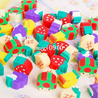Cheap Free Shipping!!Wholesale,Photo Color New novelty products Lovely Cartoon Eraser Kid Gift Mini fruits eraser (50PCS Pack) P506