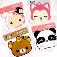 Wholesale South Korea creative cute cartoon mouse pad mouse pad PVC Girl A raccoon slip easily bear mouse pad