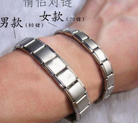 Wholesale Two styles Man amp Woman Energy Magnetic Titanium Nano Energy Magnetic stone Titanium Germanium Bracelet Pain Relief Powerfull