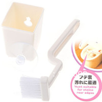 toilet brush - 100pcs L Shaped Plastic Toilet Brush Closestool Brush Closet Bowl Cleaning Brush