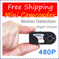Wholesale HK POST Infrared Night Vision Q5 P IR Motion Detection spy Camera T8000 Mini Camcorder Thumb Mini DV Pin Hole DVR