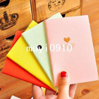 Wholesale Best selling Notebook Lovely candy colors note book Kawaii Jotter Korean design Notepad