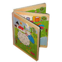 Wholesale Wood books puzzle wooden educational baby toy With for
