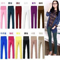Wholesale Maternity pants candy color Cotton Trousers pencil abdominal Leggings clothing clothes Elastic Waistline Pregnant wear autumn Bottoms