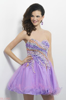 full figure dresses - custom made bling bling stones in lavender and melon sculpt your figure as they drape into a full skirt homecoming dresses BL