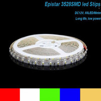 Wholesale 3528 M Leds Non Waterproof Red Blue Green Warm Cool White Light Flexible Led Strips V W Support Mix Colors For You