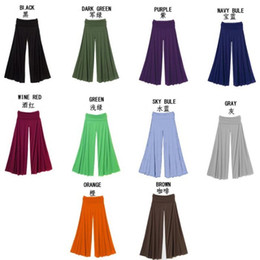 Wholesale 2014 new pants Candy colored wide leg trousers wild slik yarn fit and flare colors women fashion harem yarns S L cut length MLH003