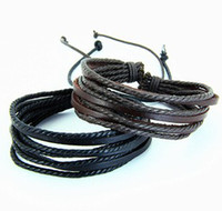 Wholesale 2013 Wrap Leather Braided Rope Bracelet for Men and Women Fashion Leather Jewelry