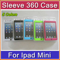 other other other DHL 10pcs Fashion 5 colors Sleeve 360 Degree with Hand Strap Back Support Cover Case for iPad Mini with retail pack PTA-H