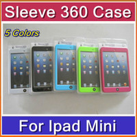 other other other DHL 200pcs Fashion 5 colors Sleeve 360 Degree with Hand Strap Back Support Cover Case for iPad Mini with retail pack PTA-H