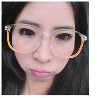 Wholesale Crystal transparent color glasses frame for male and female Korean version