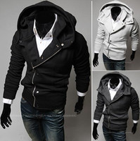 wholesale sports jackets - NEW Men s Slim Top Designed Sexy Hoody Jacket Coat coat jacket Hooded Sweater CZJ800G
