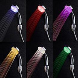 Wholesale Adjustable Mode LED Light Shower Head Sprinkler Temperature Sensor Bathroom Color Changing LED Shower Head Automatic Control Sprinkler