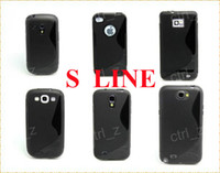 Silicone   S Line Gel TPU Back Case For Samsung Galaxy S3 Mini i8190 S3 S4 Note II iPhone 4G  5G