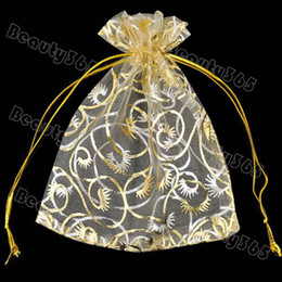 Wholesale Sheer Organza Packing Jewelry Bag, Wedding Gift Bags&Pouches Free Shipping Lots5000