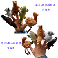 Wholesale Velvet Australian Animals Style Finger Puppets Set of Puppets Stuffed Dolls Hand Puppets For Kids Talking Props F