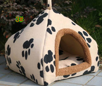 Wholesale Lovely warm colorful Pet Nest can mention Kennel Collapsible yurt Dog Cat Houses include Mat color M L XL