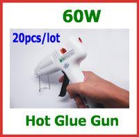 Wholesale 20pcs W V Hot Glue Gun Crafts Repair Tool Professional with US Plug Glue Sticks As Free Gift