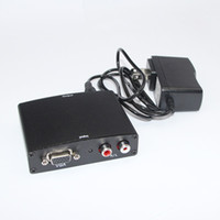 Wholesale Top Quality and The Best Price VGA Audio to HDMI HD HDTV Video Converter Box P With Retail Package