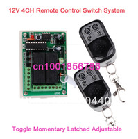 Wholesale DIY New DC V A CH Learning Code RF Wireless Remote Control Switch Systems Receiver controllers