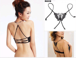 Wholesale WholesaleMixed Fashion Lady Butterfly Replacement Adjustable Bra Strap In Retail Package Lots500